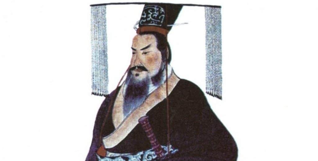 Photo of painting of Qin Shi Huang, circa 1850.