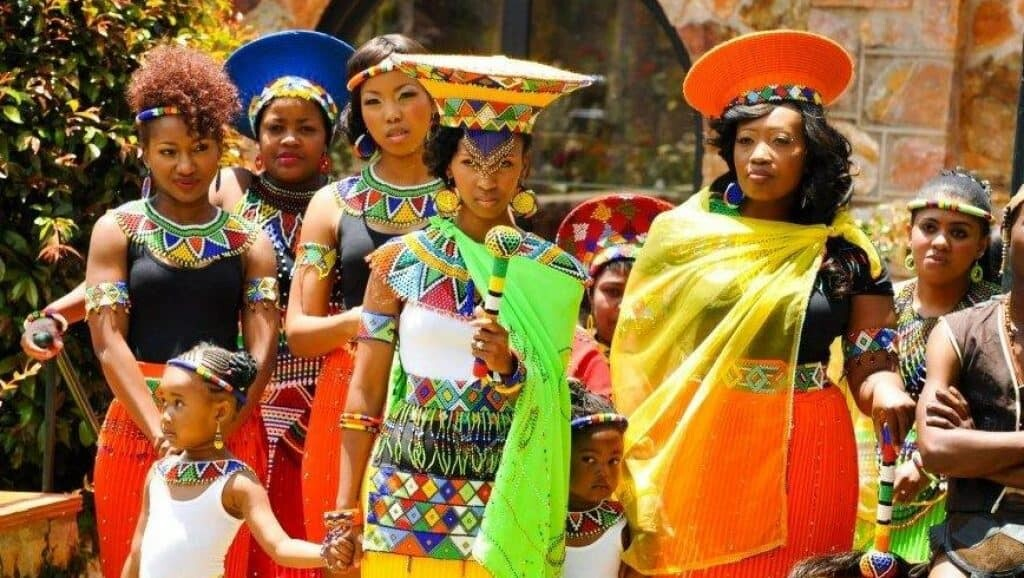 African bride looking not so happy. Source: Pinterest.com