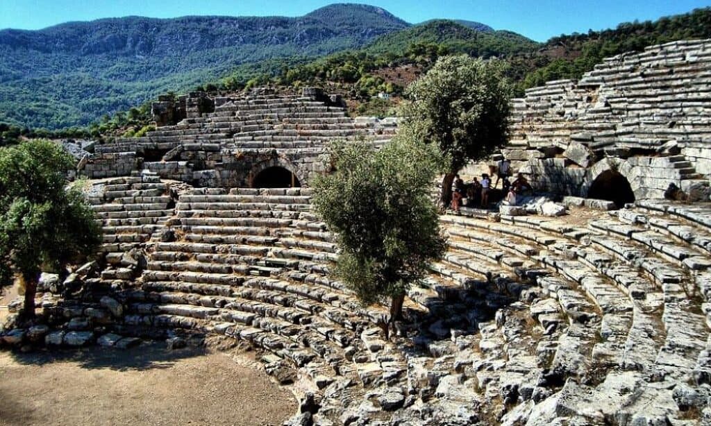 Theater at Kaunos, circa 2nd century BCE.