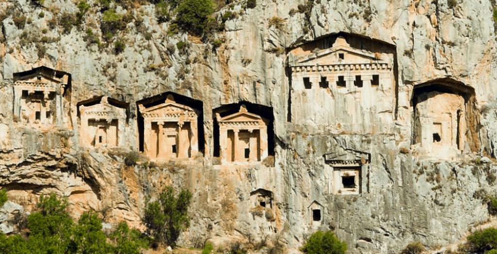 Kaunos rock-cut tombs