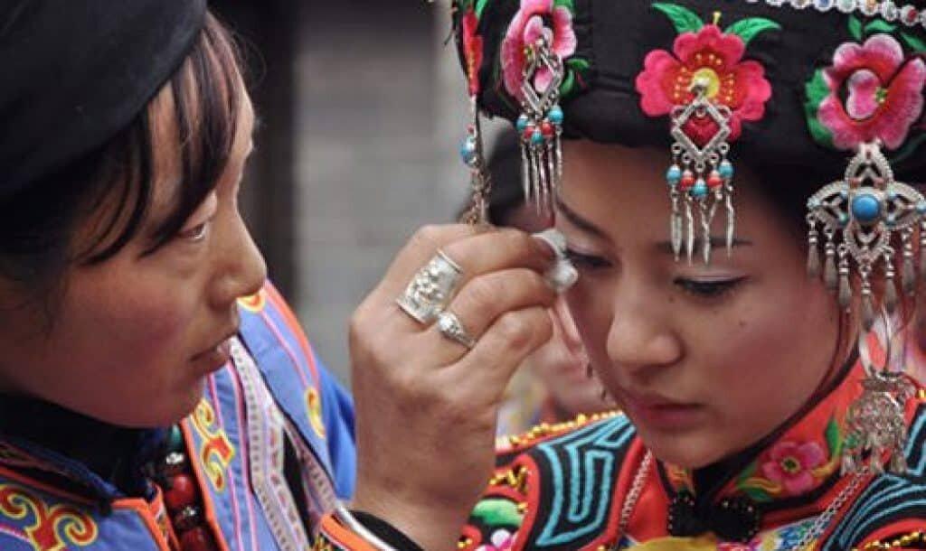 Tujian woman crying at her wedding. Source: explorezhangjiajie.com