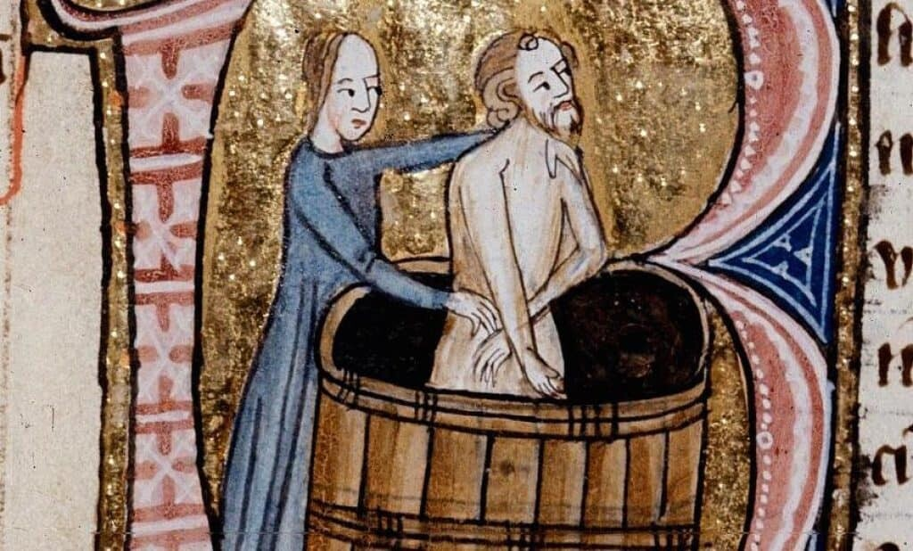 Bathing during the middle ages was not always moral or desirable.