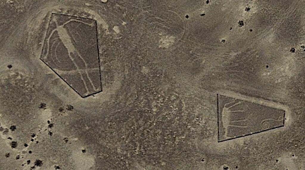 Blythe Intaglios. Geoglyphs in the Colorado Desert, California.