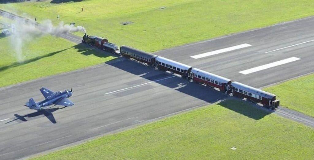 Strange trains in New Zealand.