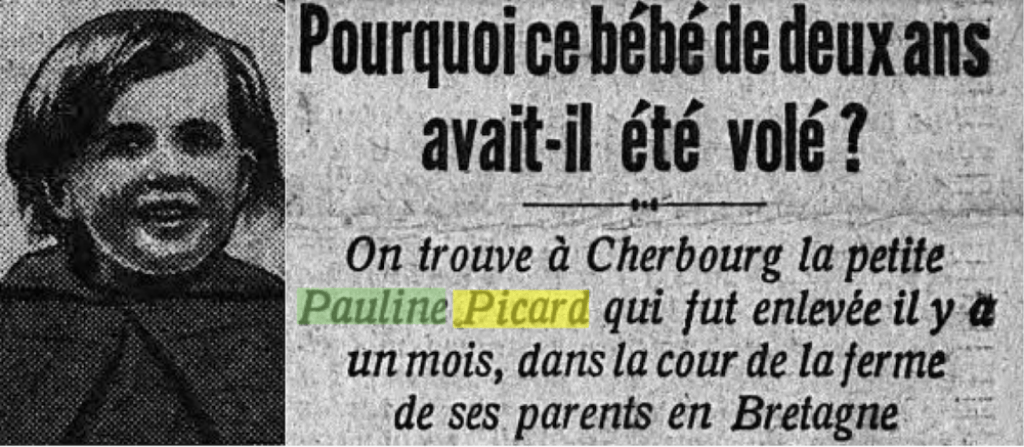 News article about Pauline Picard