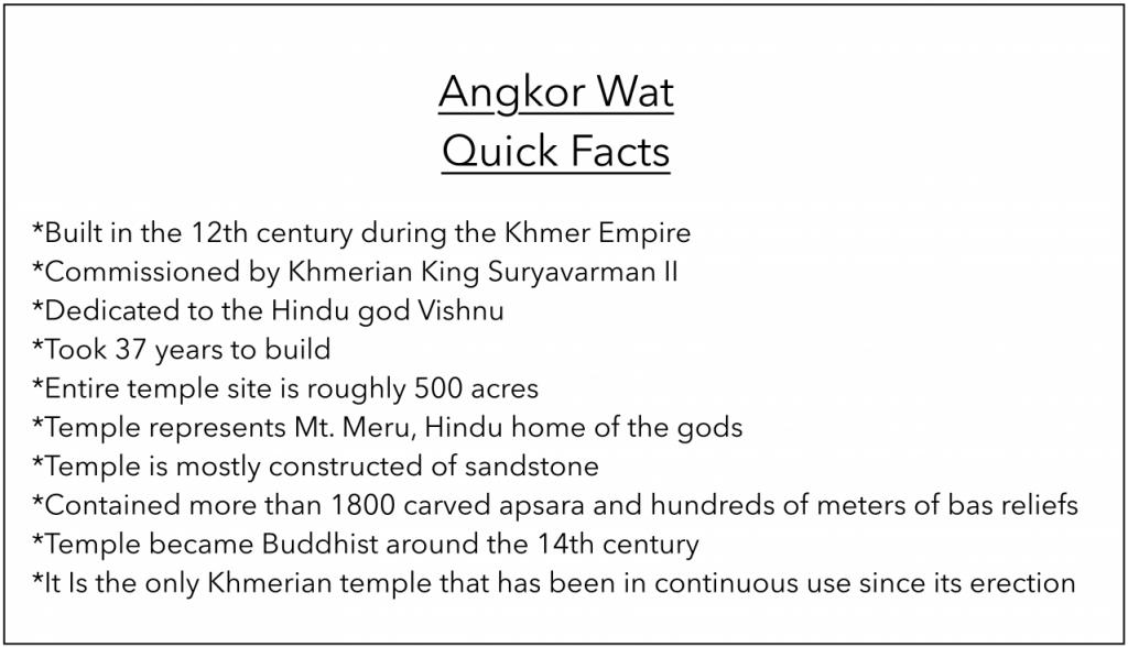 angkor wat quick facts