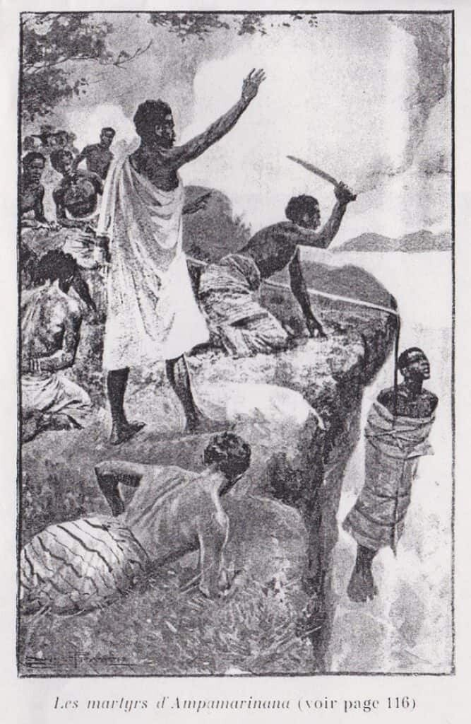 Queen Ranavalona ordered the cliff hangings of multitudes of Christian martyrs in Madagascar. Wikimedia, public domain.