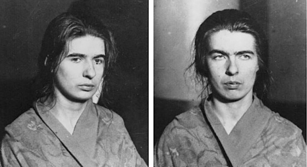 Photos of the sisters after the arrest.