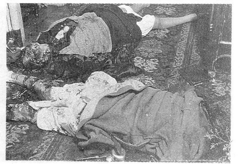 The Papin Sisters crime scene photo. Public domain.