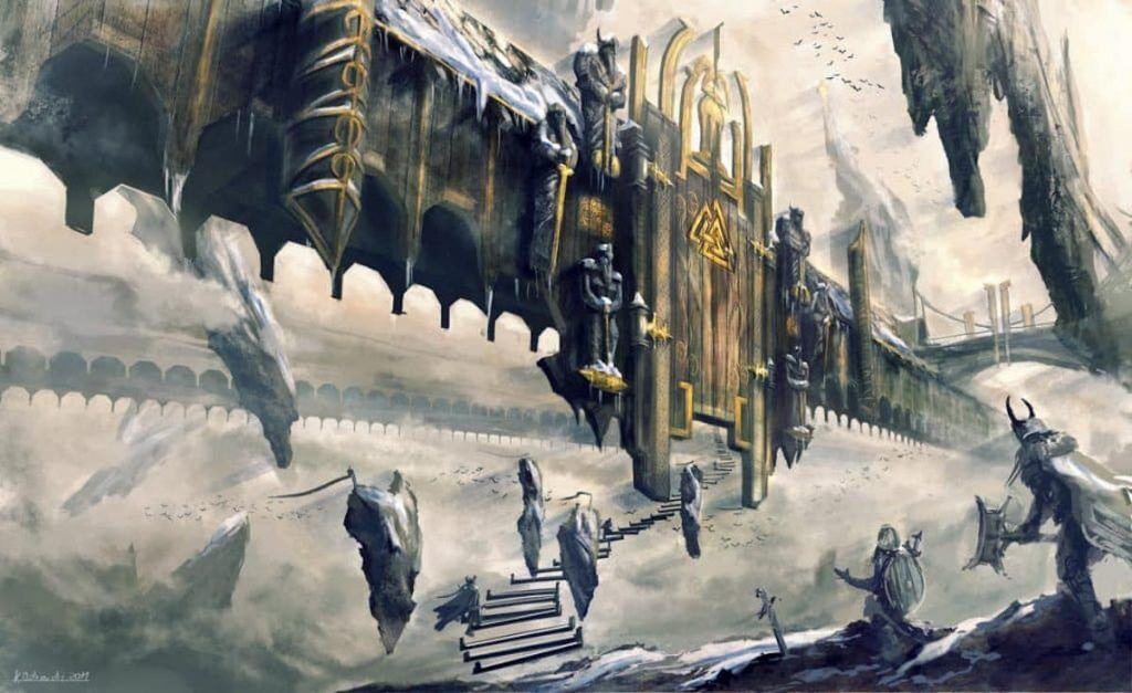 Artist depiction of the gate to the Hall of the Fallen. Source: Deviant Art by najtkriss.