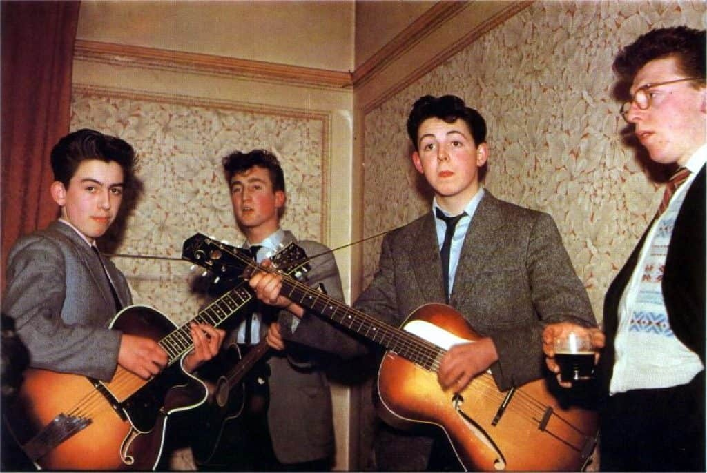 earliest photograph in color of The Quarrymen