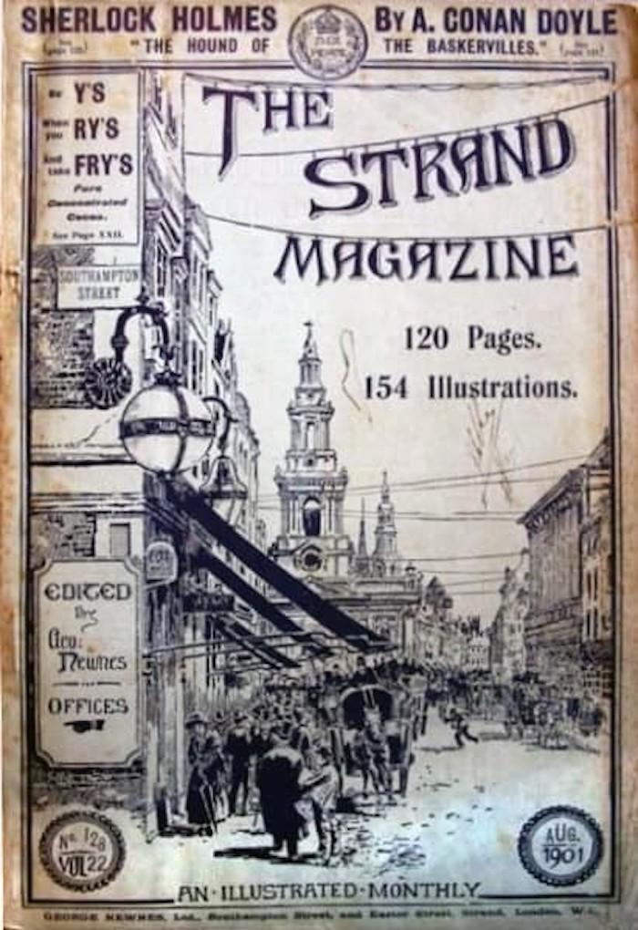 A. Conan Doyle on the Strand cover.