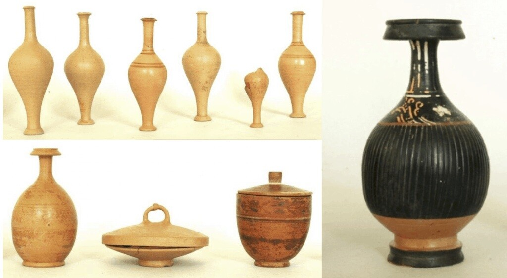 Sample of objects found in the female grave of the west wall. Credit: Baglivo et al.