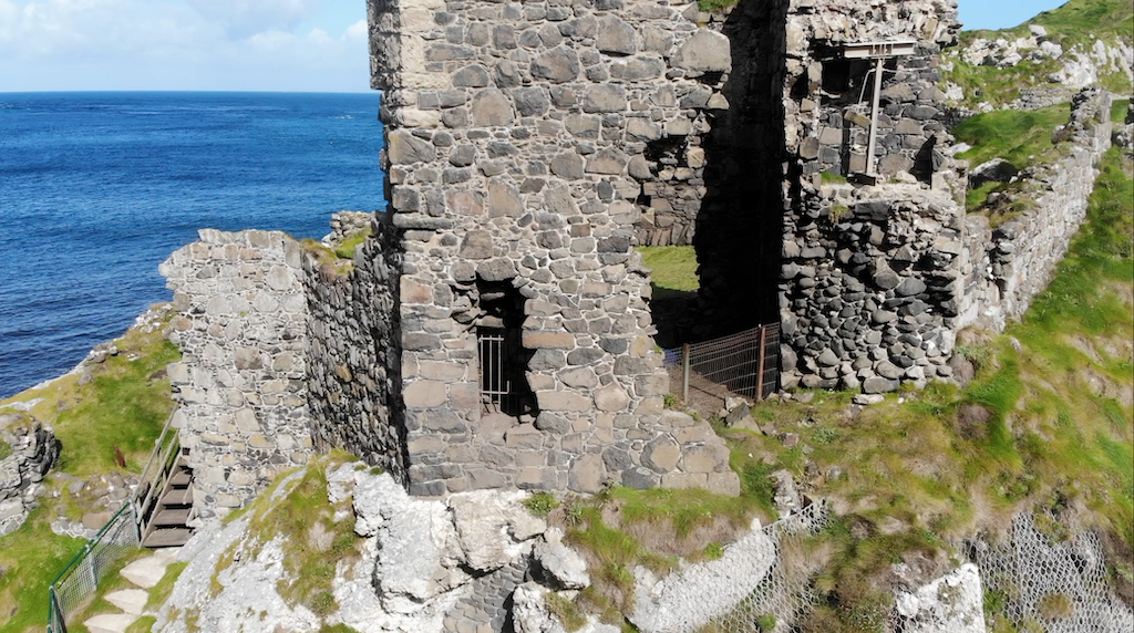 The castle is off the beaten track and very little of the original structure remains today.