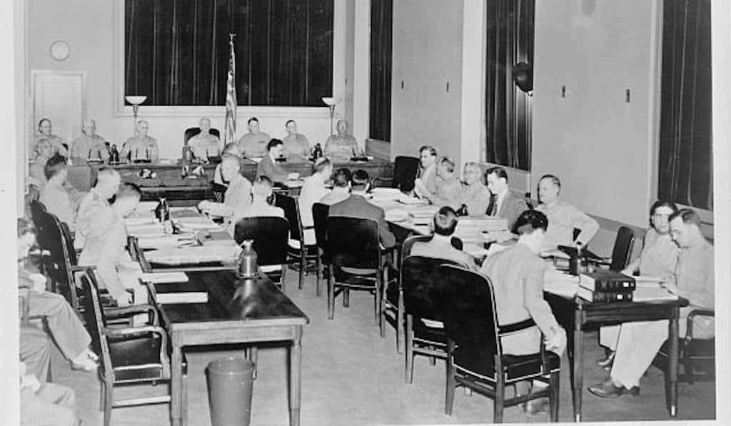 Nazi saboteurs trial in Washington D.C.