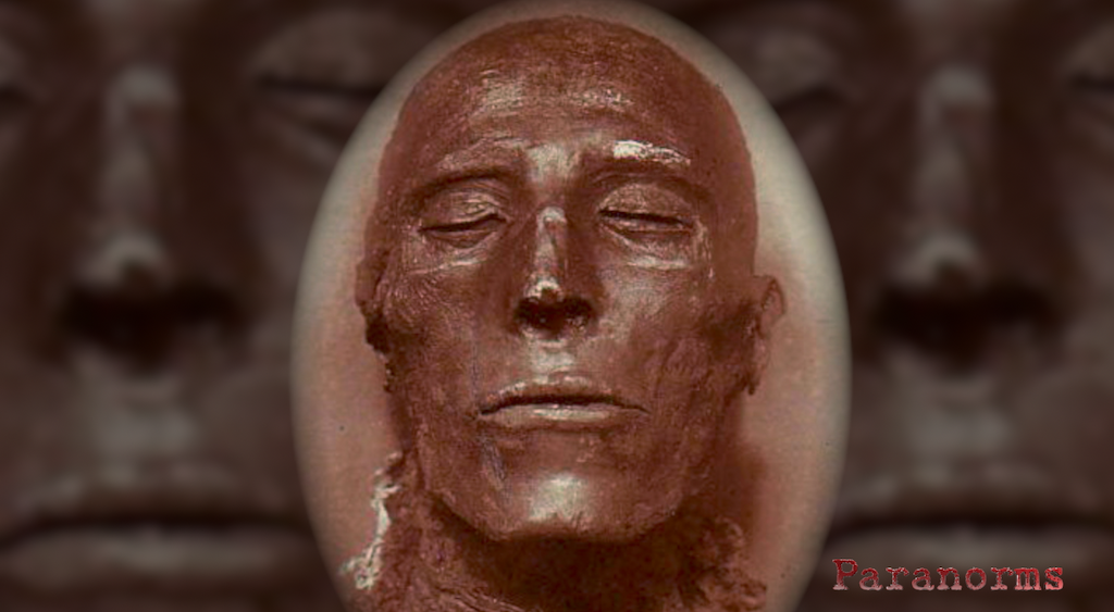 The mummified head of Seti I.