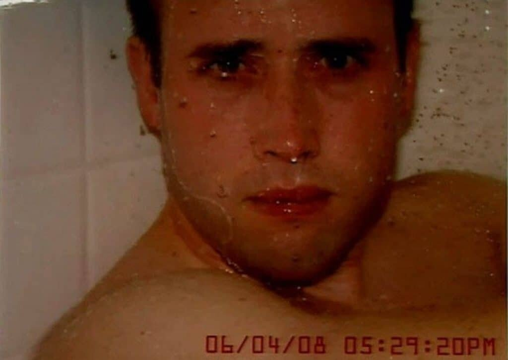 Travis Alexander photographed in the shower. Normal photos with terrifying backstories
