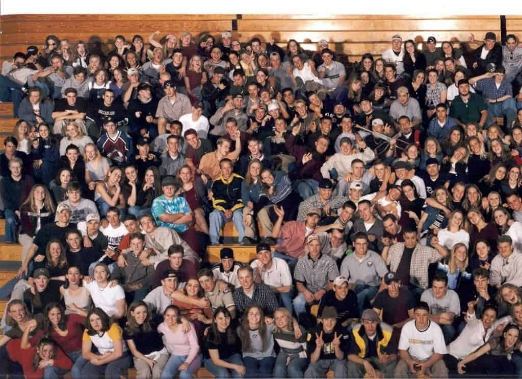 Columbine High School Class Photo 1999. Normal photos with terrifying backstories.