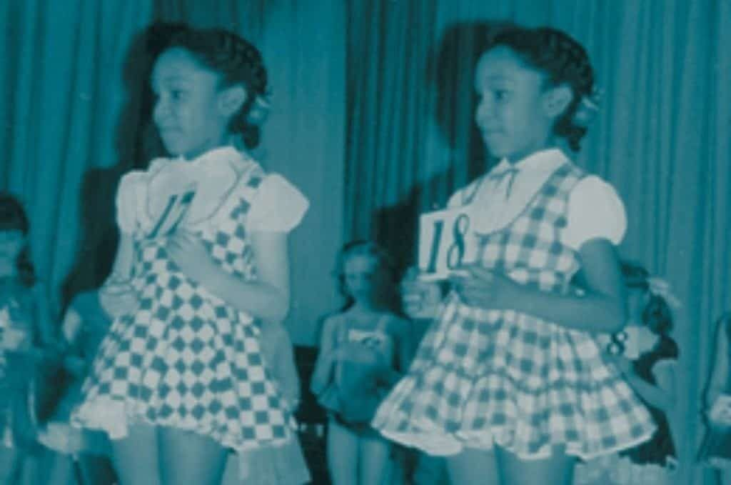 June and Jennifer in school.