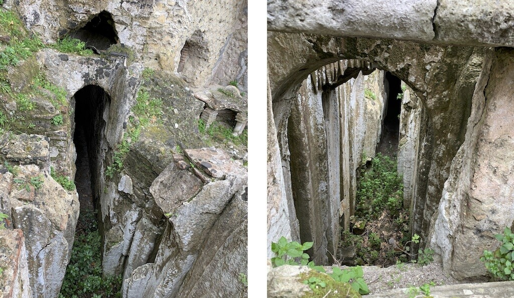 The entrance to the cave of the Oracle of the Dead at the ruins of Baiae Terme. Photo: Historic Mysteries.