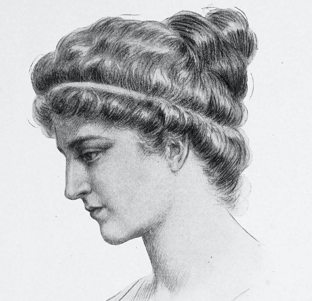A 1908 depiction of Hypatia by Jules Maurice Gaspard.