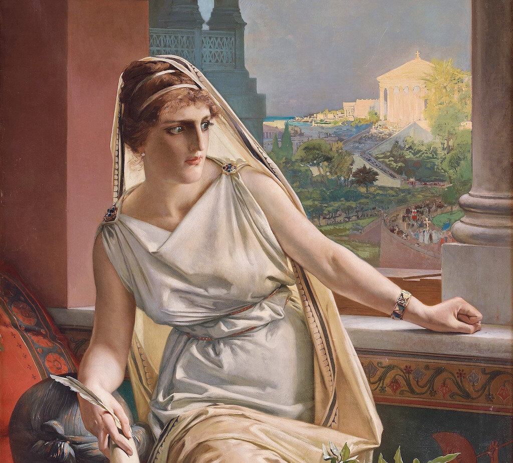 Painting of Hypatia of Alexandria by Julius Kronberg (1889).