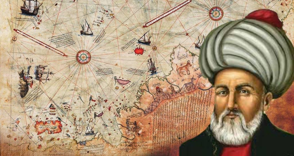 Ottoman-Turkish cartographer and geographer Ahmed Muhiddin Piri (c. 1465 – 1553) created the world map in 1513.