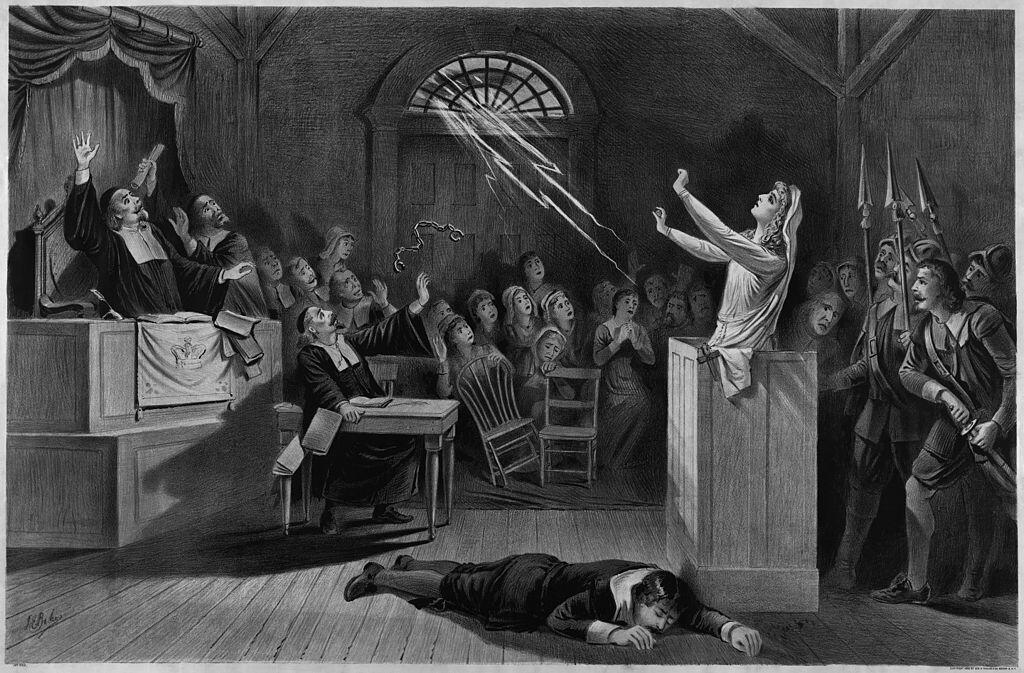 Depction of a witch trial