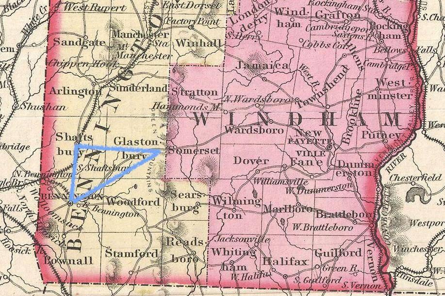 Bennington Triangle map