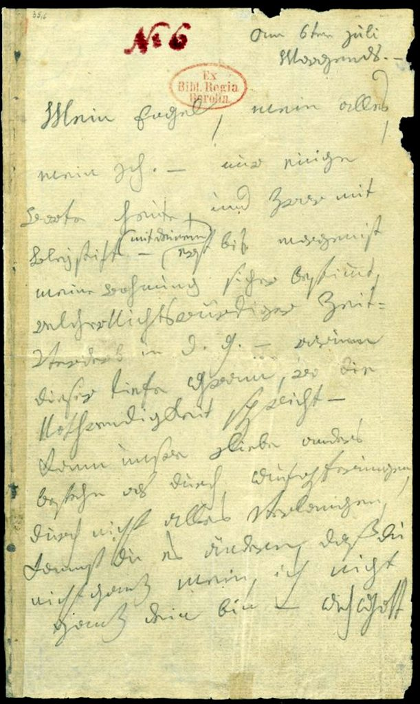 Letter by Ludwig van Beethoven to his Immortal Beloved.