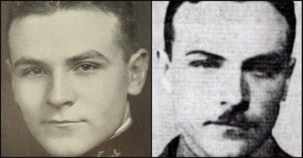LT Ernest Cody (L) and Ens Charles Adams (R).