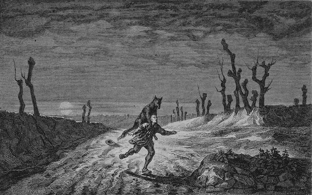 'Le Loup-Garou.' by Maurice Sand (France, 1857). Wikimedia Commons