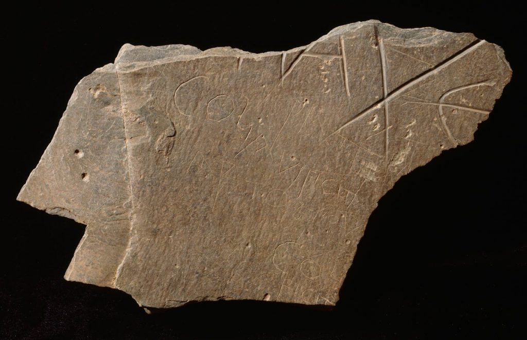 """The Artagnou Stone is inscribed with the words """"Artagnou"""" and """"Colianuus"""" in 6th century letters."""