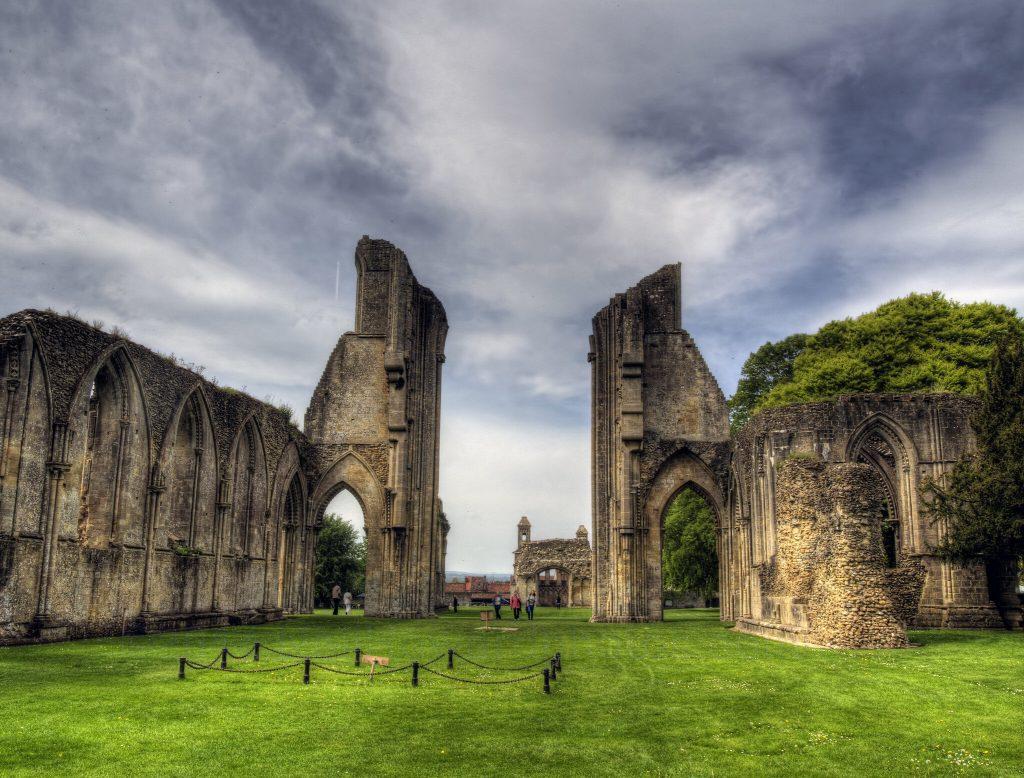 The ruins of Glastonbury Abbey Church