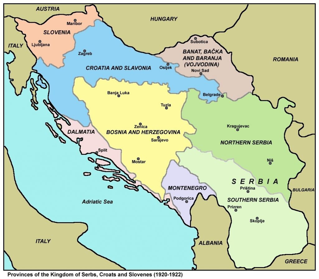 Provinces of the Kingdom of Yugoslavia in 1920–1922