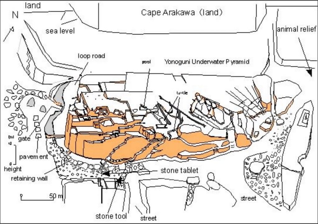 Masaaki Kimura's sketch of the site.