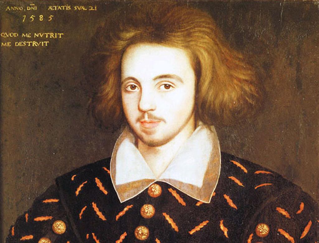 Portrait of Christopher Marlowe (1585).