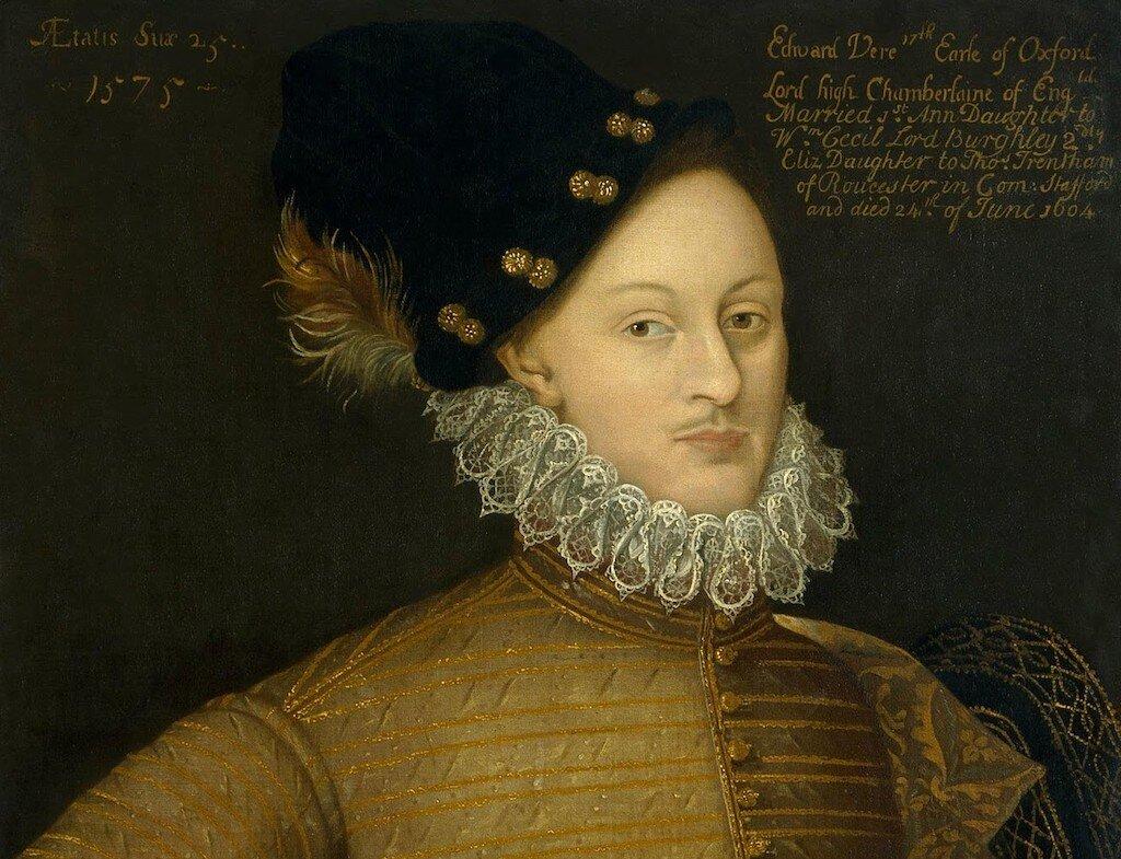 Portrait of Edward de Vere, 17th Earl of Oxford (1575).