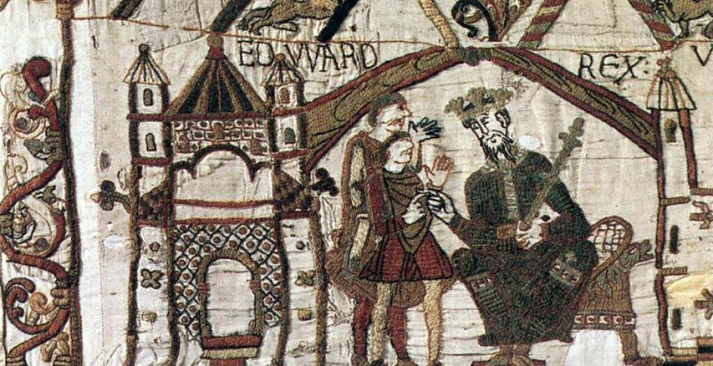 Bayeux Tapestry tituli of Edward the Confessor.