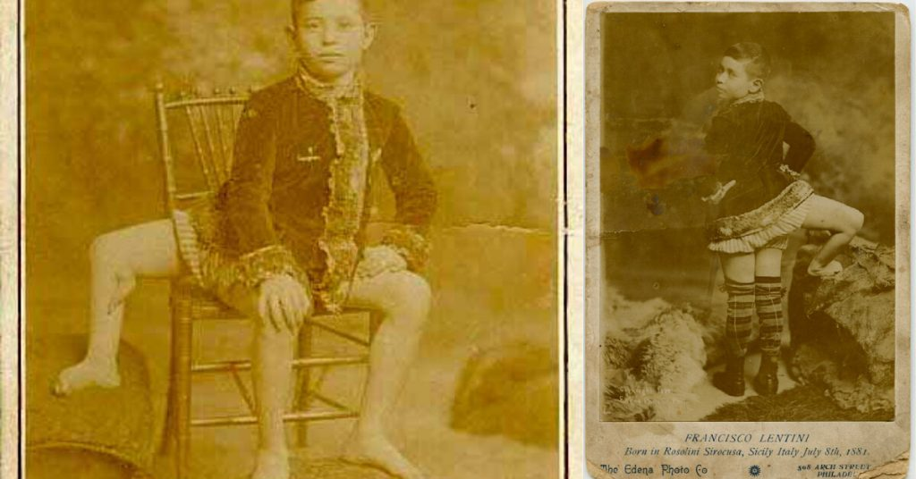 Lentini as a young child.