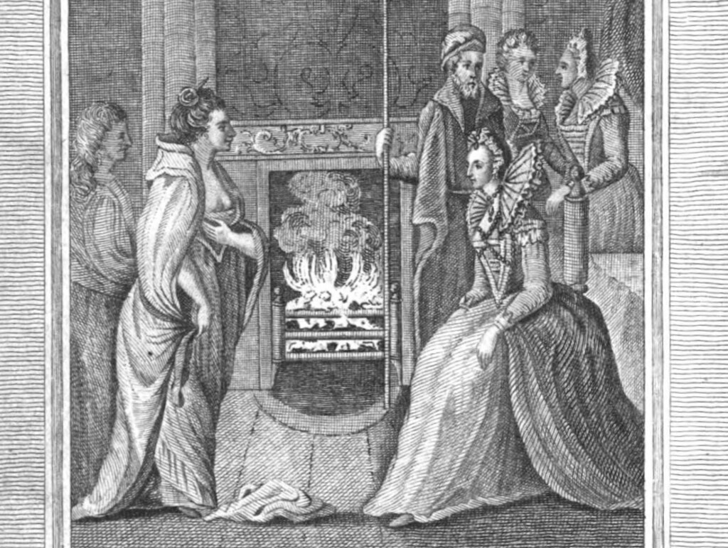 Meeting between Grace and Queen Elizabeth I, from Anthologia Hibernica Volume II.