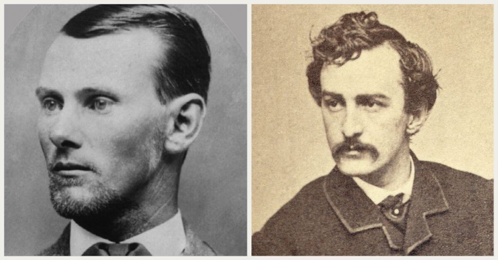 Speculation exists that KGC members include Jesse James (L) and John Wilkes Booth (R).