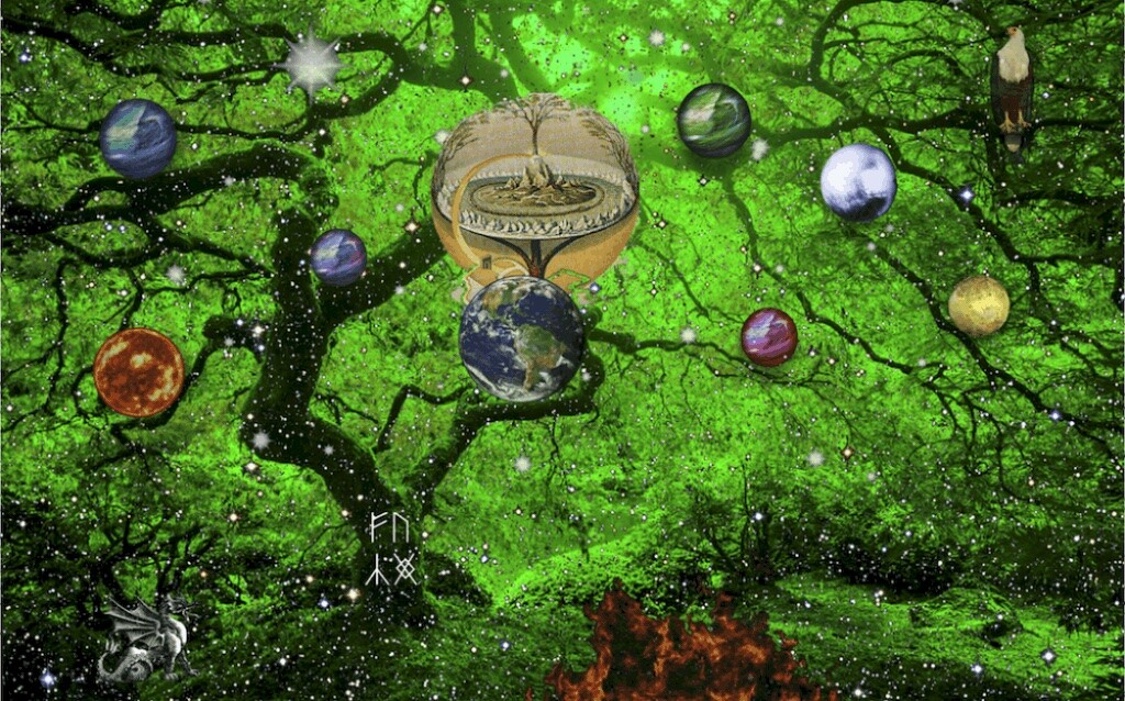 Yggdrasil is an important element of Norse mythology as the eternal ash that contains the nine worlds of the cosmos.
