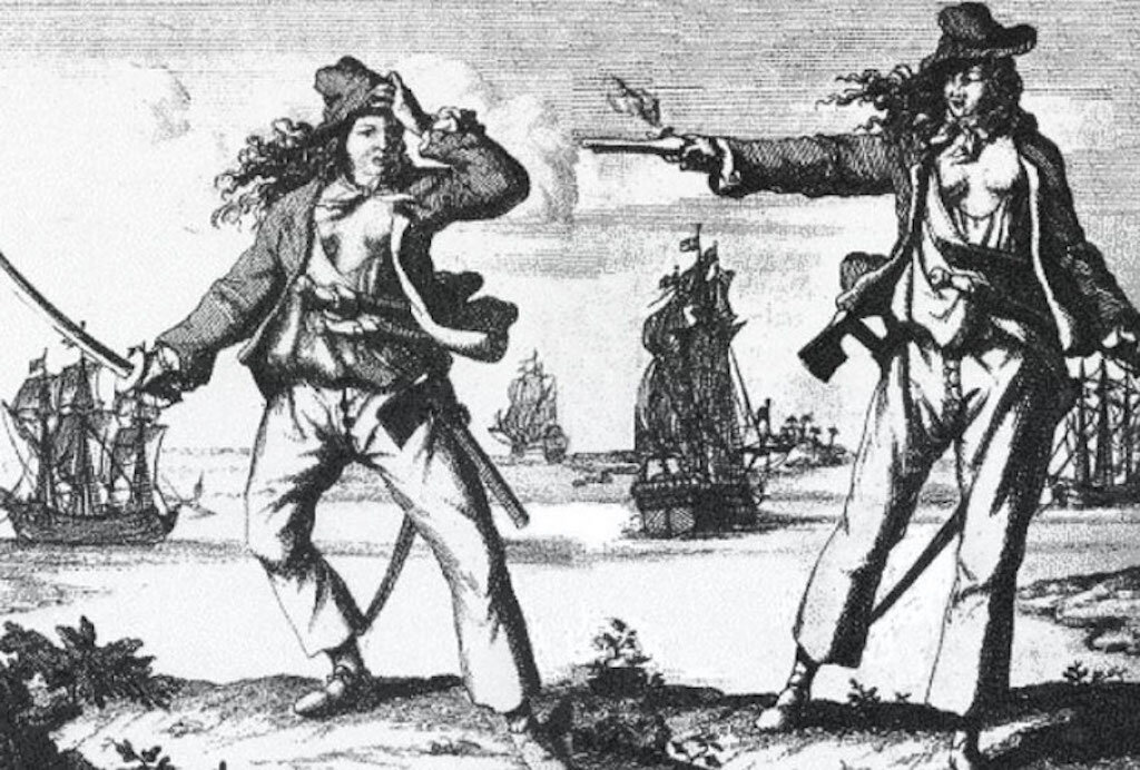 An illustration of Grace, the Pirate Queen.