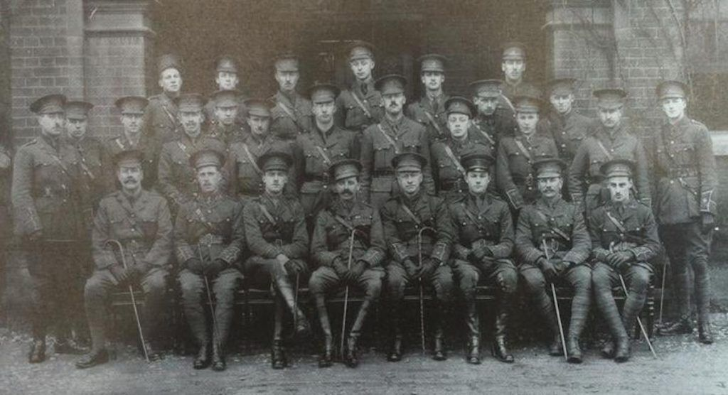 Officers of the 5th Battalion, Royal Norfolk Regiment.