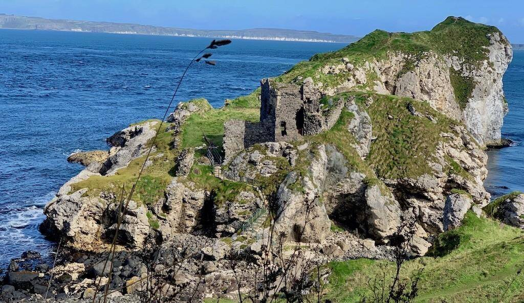 Kinbane Castle lies in a discreet location off the Causeway Coastal Route in County Antrim. Photo: Historic Mysteries.