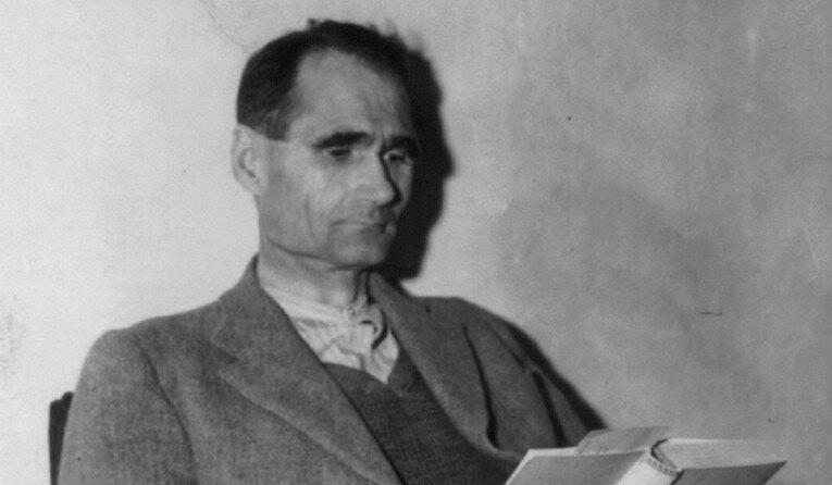 Rudolf Hess in Landsberg prison, November, 1945.