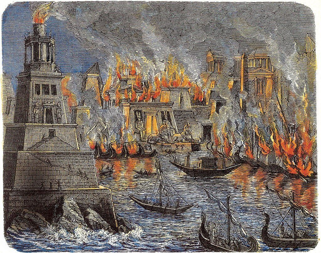 The Burning of the Library of Alexandria, 1876.