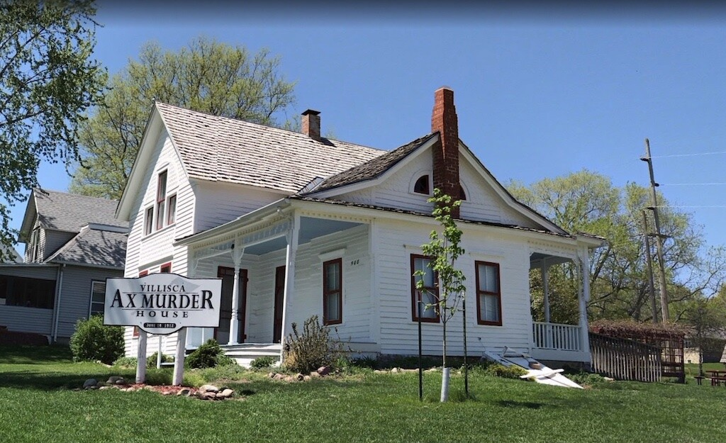 The Moore family home in Villisca, Iowa is nw a tourist attraction. Image: Google Earth.
