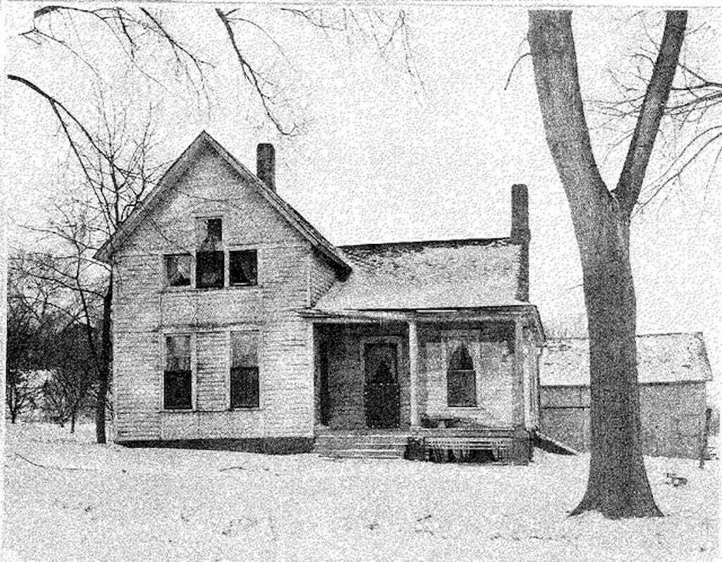 The Moore family home around the time of the axe murders.